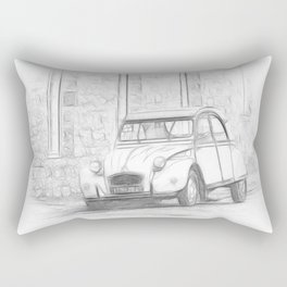 Citroen 2 CV - Deux Chevaux Rectangular Pillow