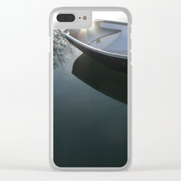 Rowboat with Flare Clear iPhone Case