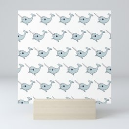 Sea Unicorns Gift for Kids Animal Narwhal Mini Art Print