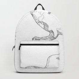 Northern Goshawk Swooping Doodle Art Backpack
