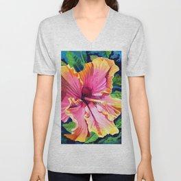 Tropical Bliss Hibiscus Unisex V-Neck
