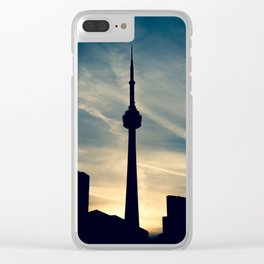 Toronto Sunset Clear iPhone Case