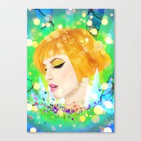 hayley williams Canvas Prints featuring Digital Painting - Hayley Williams by EmmaNixon92
