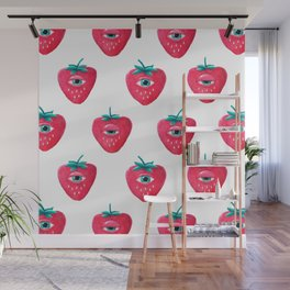 Cry Berry Pattern Wall Mural