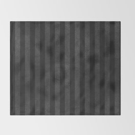Black & Gray Velvet Stripe Pattern Throw Blanket