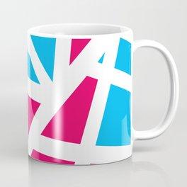 Abstract Interstate  Roadways Aqua Blue & Hot Pink Color Coffee Mug