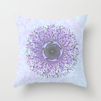 psych Throw Pillows featuring Psych by Stephanie
