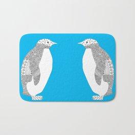 Light blue-Penguin Bath Mat