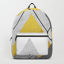 Landscape collage marble I Backpack