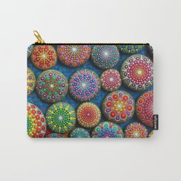 Mandala Stone Love Heart Carry-All Pouch