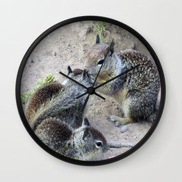 Ground Squirrel Chatter Wall Clock