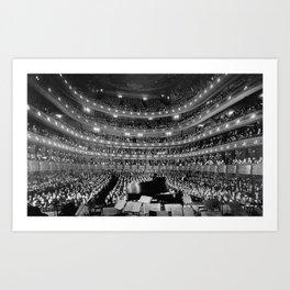 Theatre orchestra Art Print