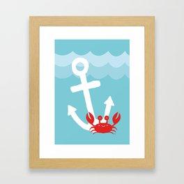 Anchor's Away Crab Framed Art Print