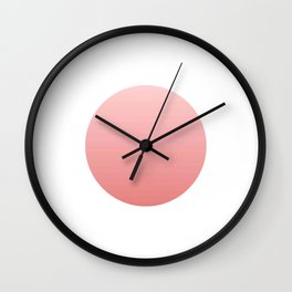 Flag of japan -with color Gradient Wall Clock