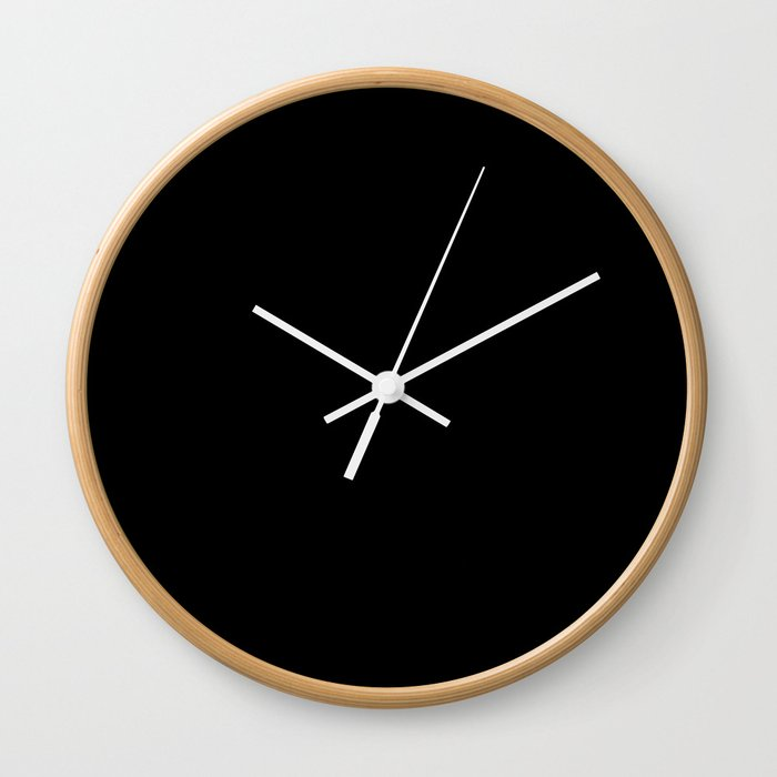 Black Minimalist Wall Clock