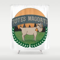 totes Shower Curtains featuring Totes Magoats by LaurenPyles