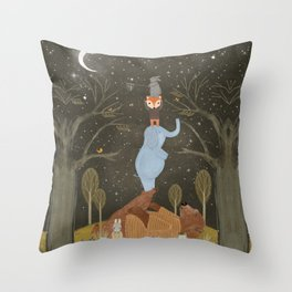 catching falling stars Throw Pillow