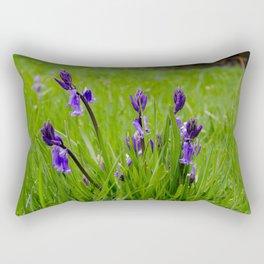 Bluebells in the grass Rectangular Pillow