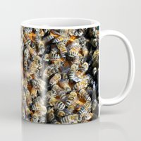 minions Mugs featuring Hive of Activity by Shawn Kelvin