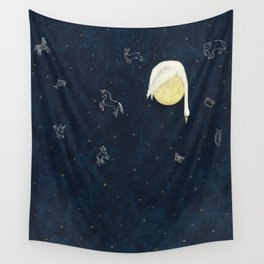 Sleeping on the Moon Wall Tapestry