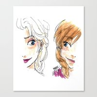 sisters Canvas Prints featuring SISTERS. by Maryne.