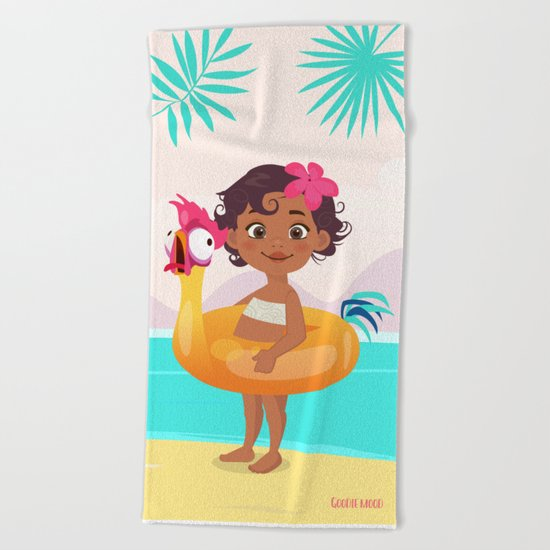 Baby Moana & Hei Hei Beach Towel