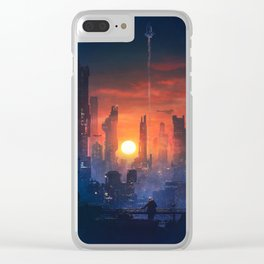 Barcelona Smoke & Neons: The End Clear iPhone Case