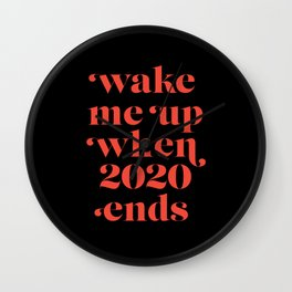 Wake me up in Black Wall Clock