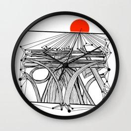 the Roads Wall Clock