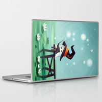 bubbles Laptop & iPad Skins featuring Bubbles by Freeminds