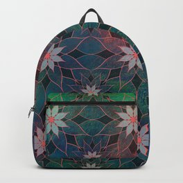Water Lily Pattern Backpack