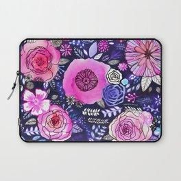 Ultraviolet Floral Mix Laptop Sleeve