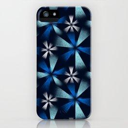 Fragmented Blue Burst iPhone Case