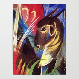 """Franz Marc """"Fabulous Beast I (also known as Composition of Animals I)"""" Poster"""