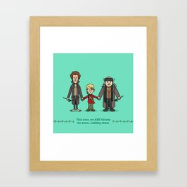 Marv and Kevin and Harry Framed Art Print