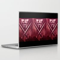 vendetta Laptop & iPad Skins featuring RED for VENDETTA by The Traveling Catburys