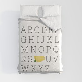 Alphabet Tea Comforters