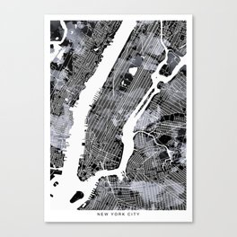 NEW YORK city map Canvas Print