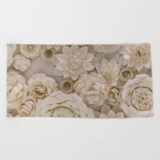 Paper Bouquet Beach Towel