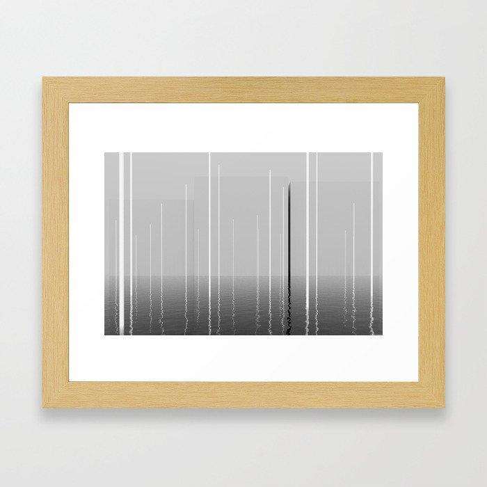 Narrow lights Framed Art Print