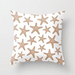 Sweet Starfish Pattern 223 Beige Throw Pillow
