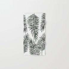 Black Fern Pattern Hand & Bath Towel