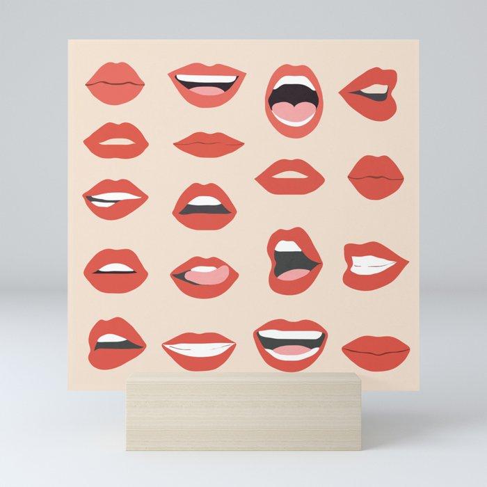 Lips III Mini Art Print