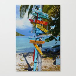 All Roads Lead to Happiness Canvas Print