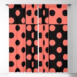 simple , black coral pattern , polka dot Blackout Curtain