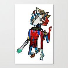 Mr Mr Dispositioned Man Man Canvas Print