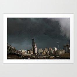 Stormy City Art Print