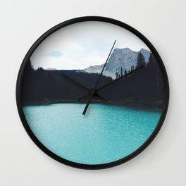 Moody Emerald Lake Wall Clock
