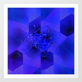 Suprematic Fractal Composition N4 Art Print