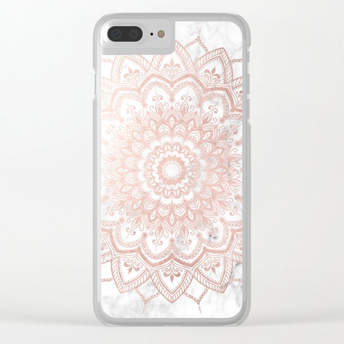 Pleasure Rose Gold Clear iPhone Case